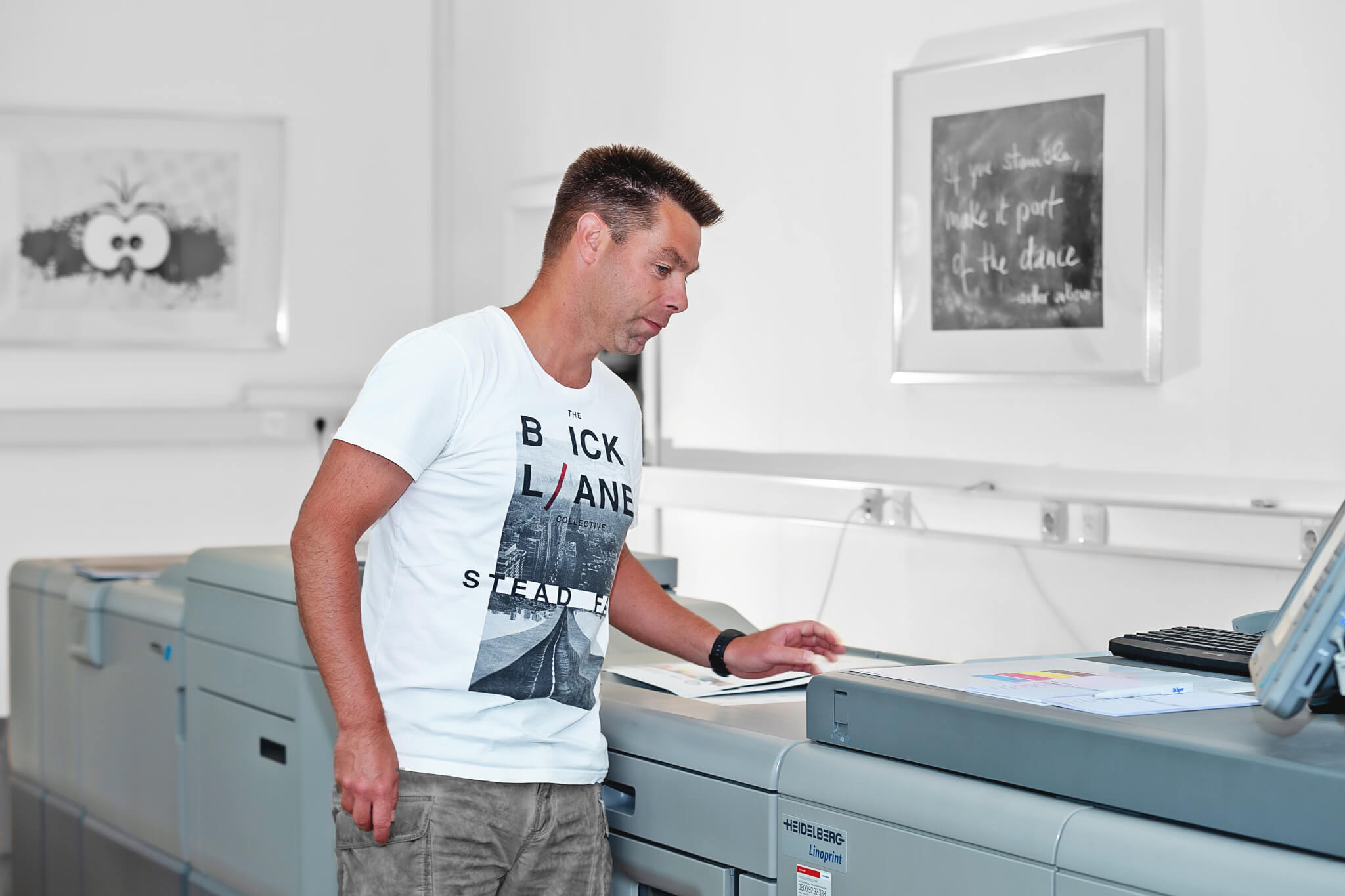Unser Digitaldruck arbeitet flexibel, professionell und effektiv für Sie.