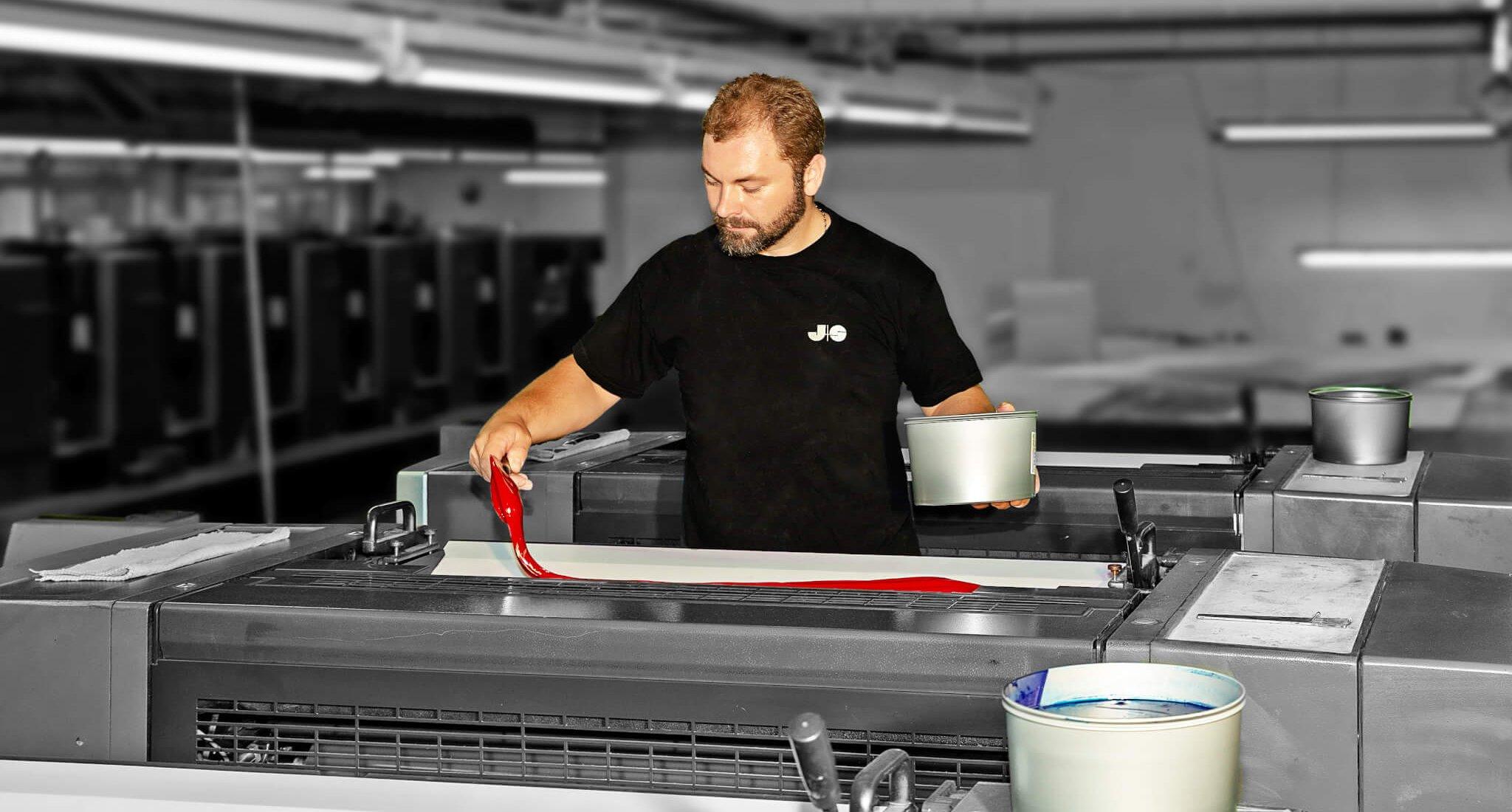 Unsere 5-Farben Offset Heidelberger Druckmaschine - Ihre Druckerei in Lübeck